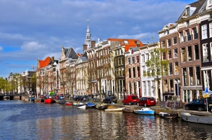 Classical Amsterdam view