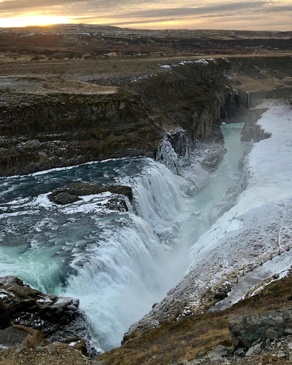 Pure And Natural Gullfoss Waterfall, Iceland