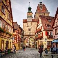 The Romantic Road to Rothenburg, Germany